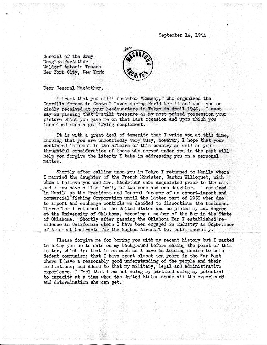 letter of continued interest college