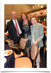 Dr. Bruce & Debbie Powell join me at the reception and screening