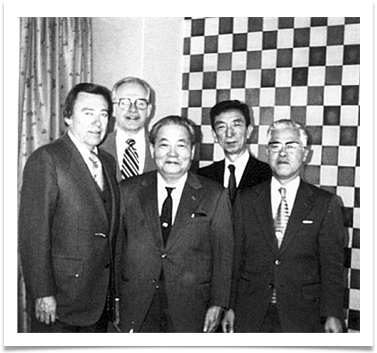 Ed with Dr, Koji Kobayashi, Chairman of Nippon Electric Co