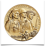 The Congressional Gold Medal awarded to Filipino and American soldiers and survivors of World War II