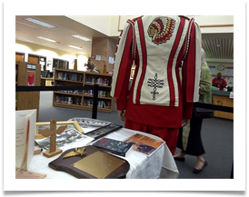 "Ed's book ""Lieutenant Ramsey's War"" and The NEVER SURRENDER flyer in display at the library"