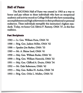 OMA Hall of Fame 1994, page 2
