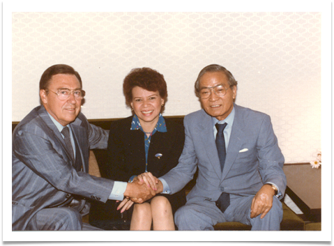 Ed and Raqui with Col. Sejima