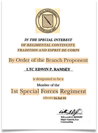 Special Forces Membership