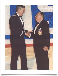 Special USO Heroes Award for Lt. Col. Edwin Price Ramsey by Gen. Richard Myers, Chrmn. JCOS