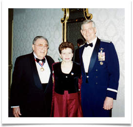 Col. and Mrs. Ramsey with Genl Richard Myers, Chmn JCoS