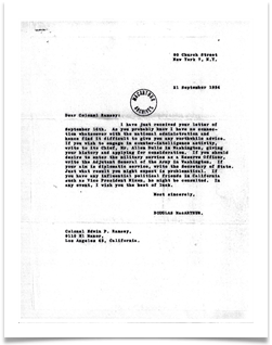 MacArthur's Response to Ed's Letter (with thanks to the MacArthur Memorial, Norfolk VA)