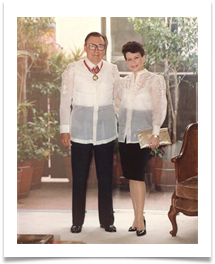 Raqui and Ed in Barongs