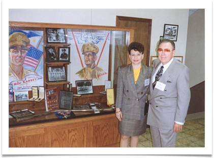 Col. & Mrs. Ramsey at Oklahoma Military Academy Museum